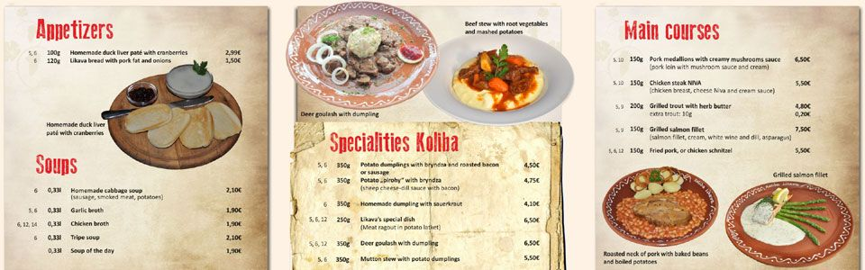Try local specialites from Zakopane and Slovakia